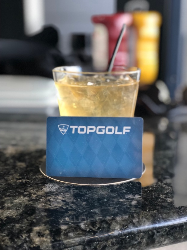 TopGolf Drinks and Membership card