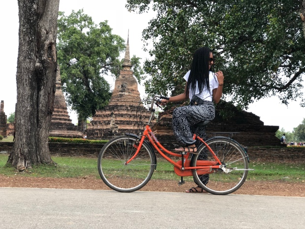 Single Peach on a bike in Thailand