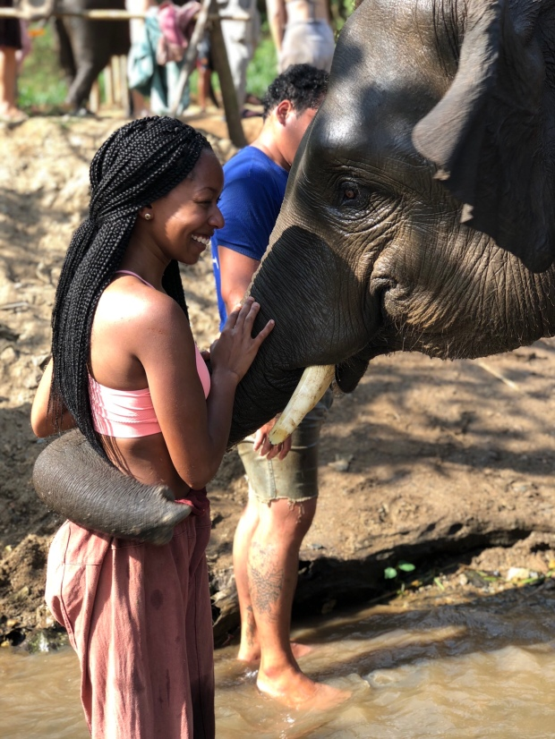 Jay and the elephant hug
